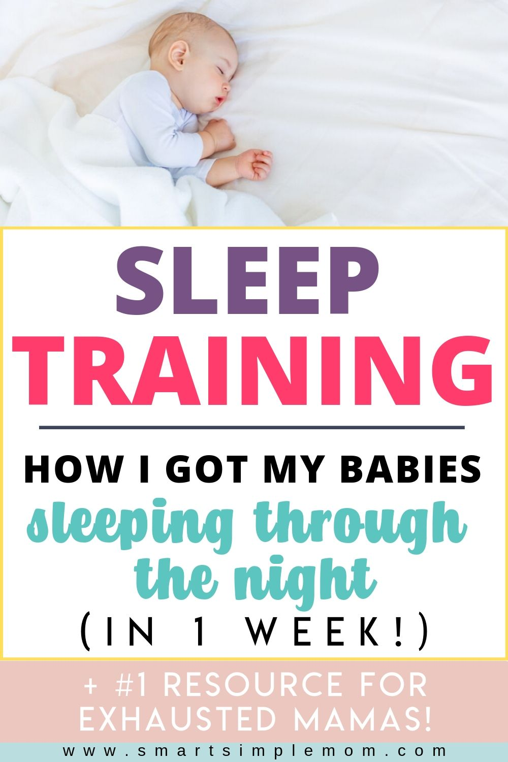Find out how I got my babies to sleep through the night in less than 1 week with these SLEEP TRAINING TIPS! (Including options for cry it out or NO CRY method)