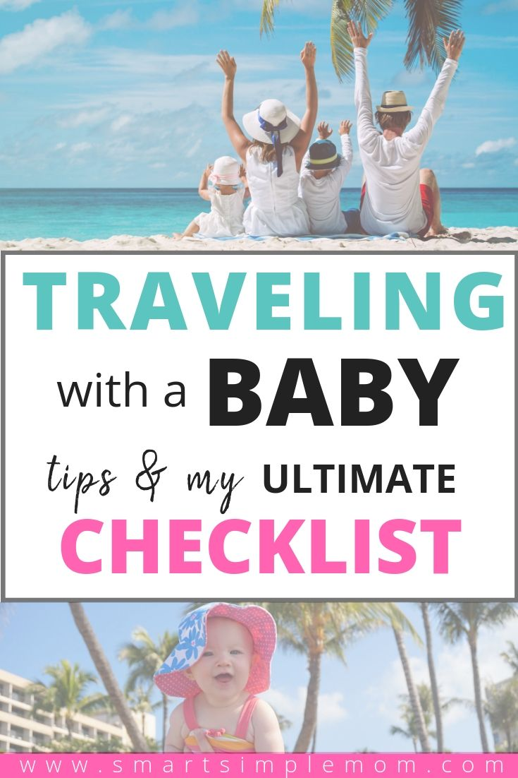 Planning a trip with a baby sounds so fun and exciting, and don\'t get me wrong, IT IS! But it can be EXTREMELY stressful. Plan ahead and eliminate the stress with these simple tips! #babytravel #familyvacation #newmom traveling with a baby checklist | travel with a baby | babies on planes ear popping | how to entertain a 1 year old on a plane | travel with baby checklist | travel with baby | baby travel | family vacation | travel with baby on a plane
