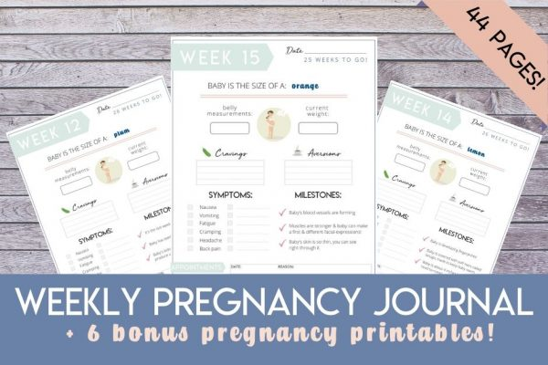 Weekly Pregnancy Journal