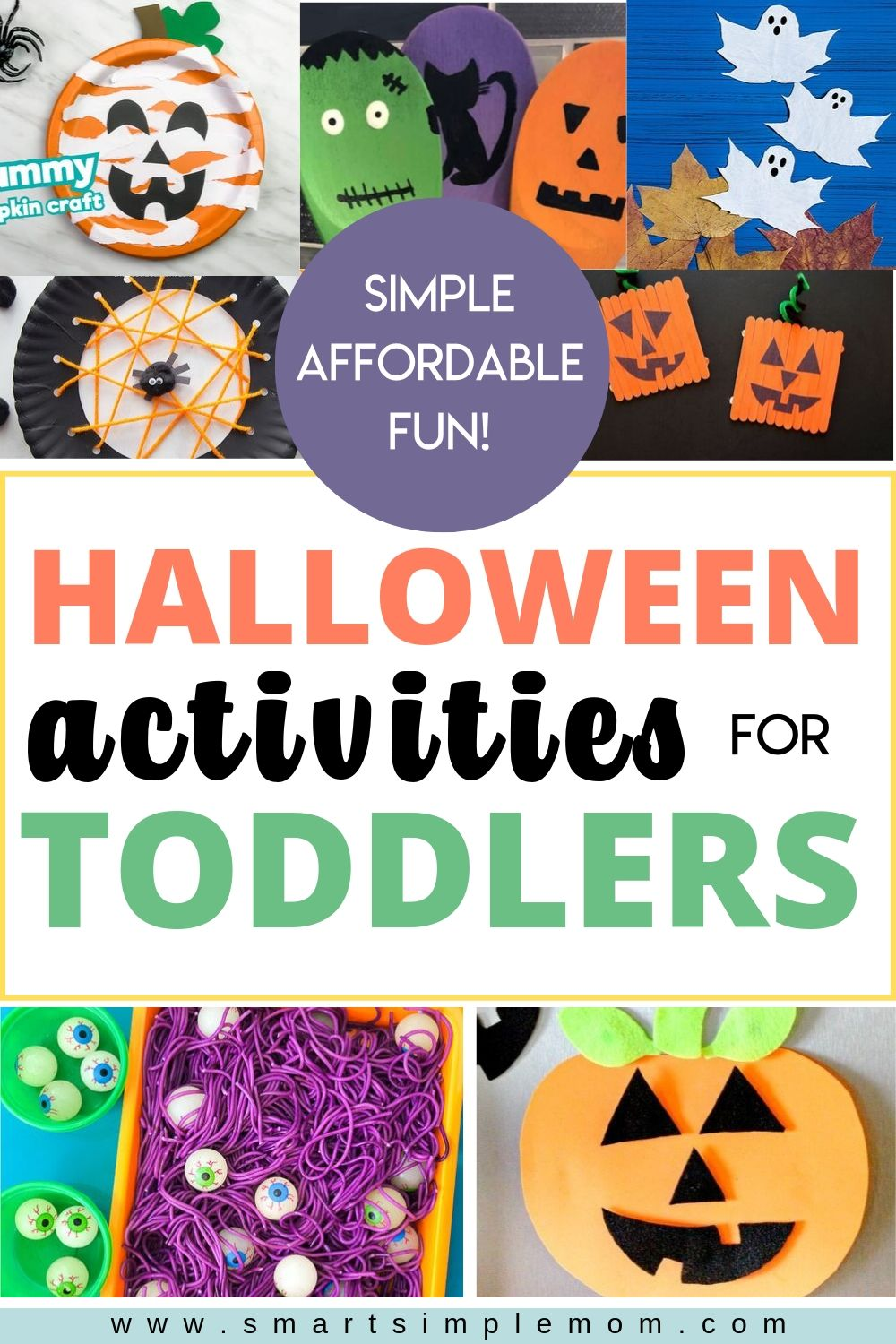 These HALLOWEEN ACTIVITIES FOR TODDLERS are all SIMPLE to create, use super AFFORDABLE materials, and are so much FUN to make with your toddler! #halloween2019 #halloweencrafts #halloweenactivities